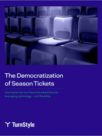 an image of white paper called The Democratization of Season Tickets.